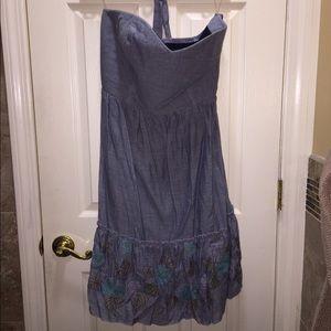 Torrid Striped Strapless Peasant Dress NWT 1